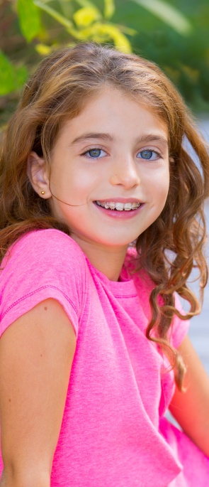 Young girl with phase 1 orthodontics