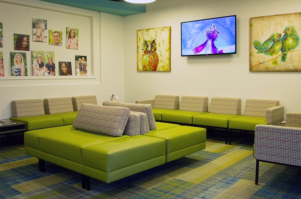 Waiting room of Serenity Orthodontics